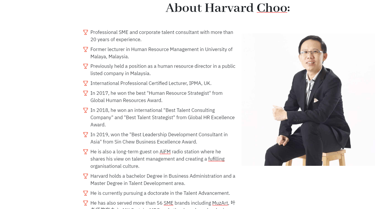 About Harvard Choo GLOBAL